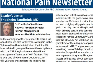 National Pain Newsletter  (March 2019)